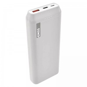 Powerbank Quick Charge ALPHAQ 20000 mAh biały microUSB + USB C